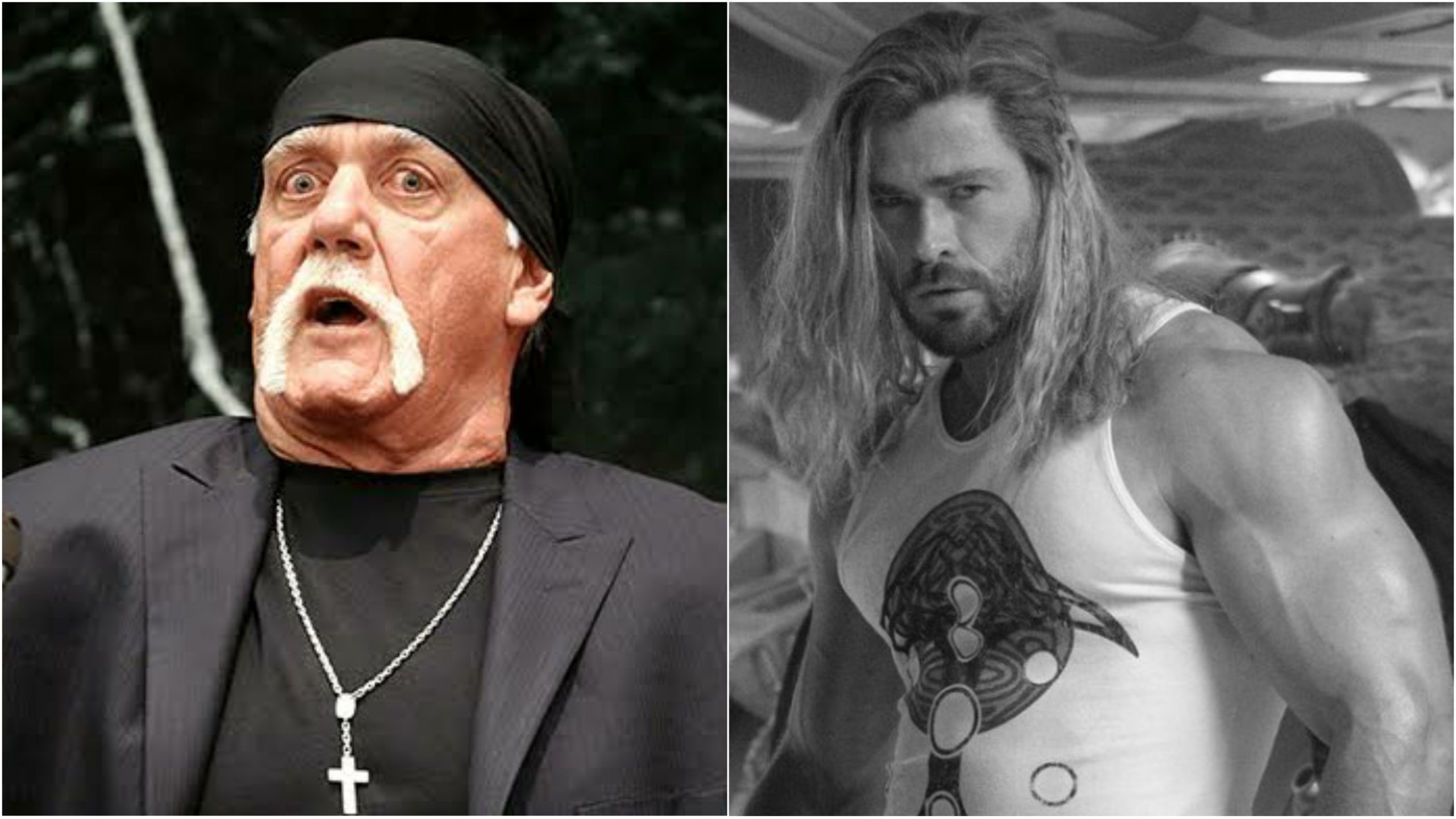 Hulk Hogan is stunned with Chris Hemsworth's physique